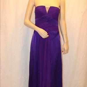Bcbg maxazria persian blue pleated gown